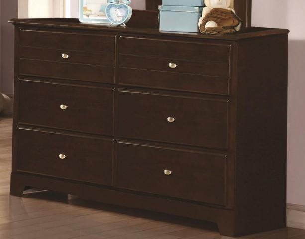 Ashton Cappuccino 6 Drawer Dresser