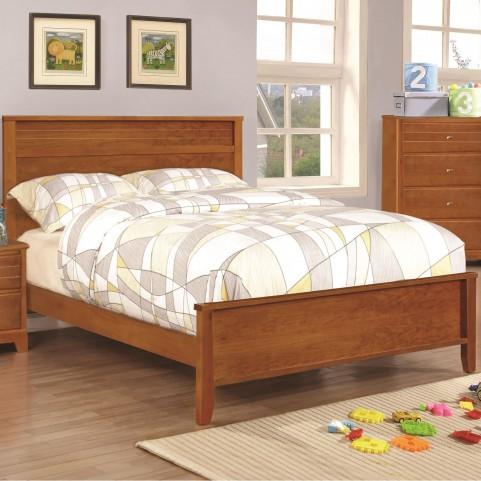 Ashton Honey Twin Panel Bed
