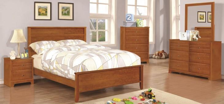 Ashton Honey Youth Panel Bedroom Set