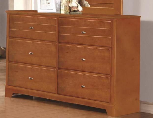 Ashton Honey 6 Drawer Dresser