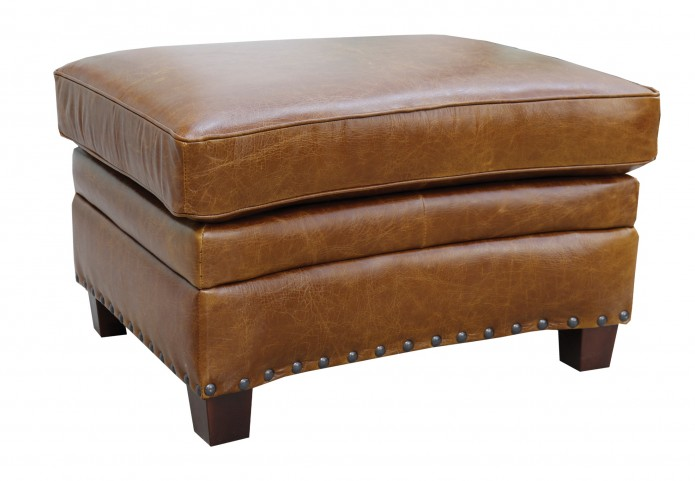 Ashton Italian Leather Storage Ottoman