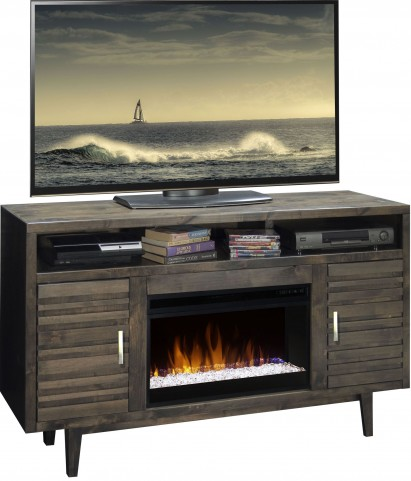 "Avondale Charcoal 61"" Fireplace Console"