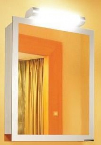 "Axara 23"" Hinge Left Anodized Mirror Cabinet"