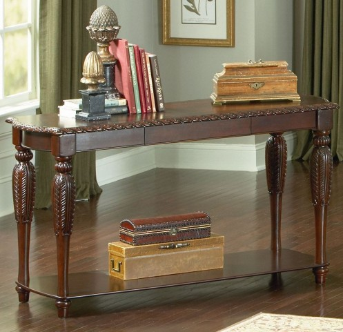 Antoinette Brown Cherry Sofa Table