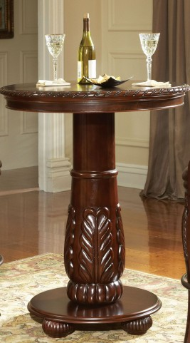 Antoinette Warm Brown Round Pub Table
