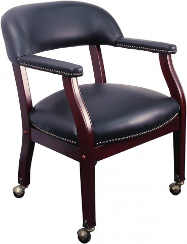 Black Luxurious Conference Chair with Casters