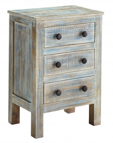 Charlowe Three Drawer Nightstand