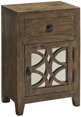 Charlowe Brown Door and Drawer Nightstand