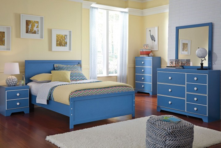 Bronilly Blue Youth Panel Bedroom Set