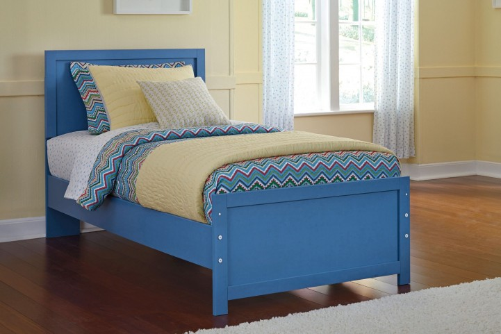 Bronilly Blue Twin Panel Bed