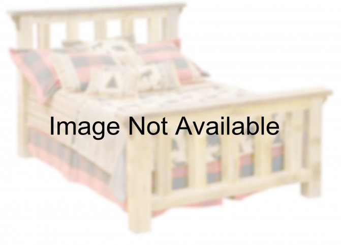 Barnwood Twin Post Platform Bed