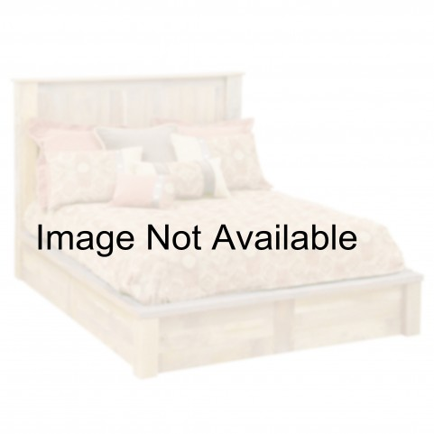 Barnwood Full Post Platform Bed