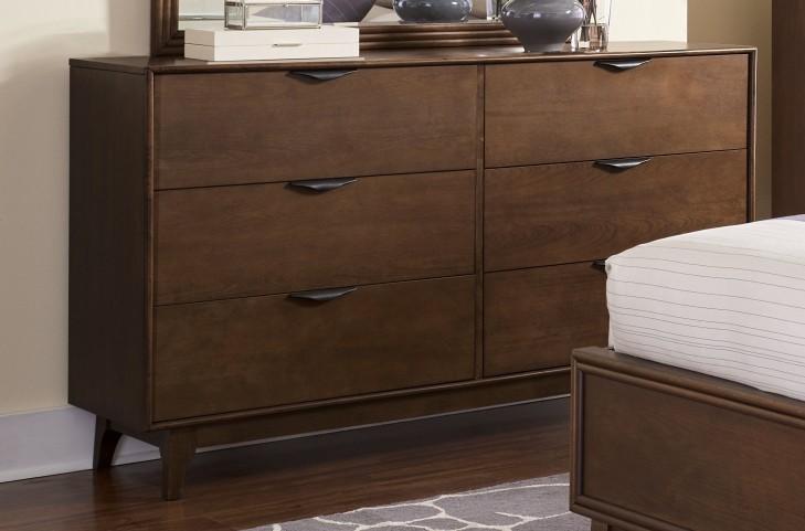 Mid-Mod Cinnamon Drawer Dresser