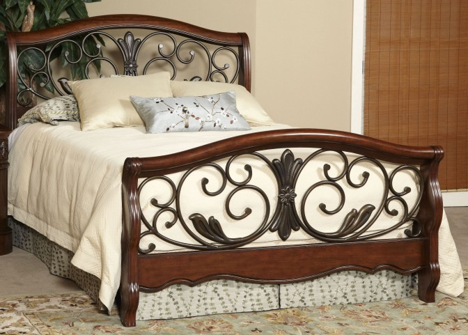 Belle Meade Courtyard Cherry King Panel Bed