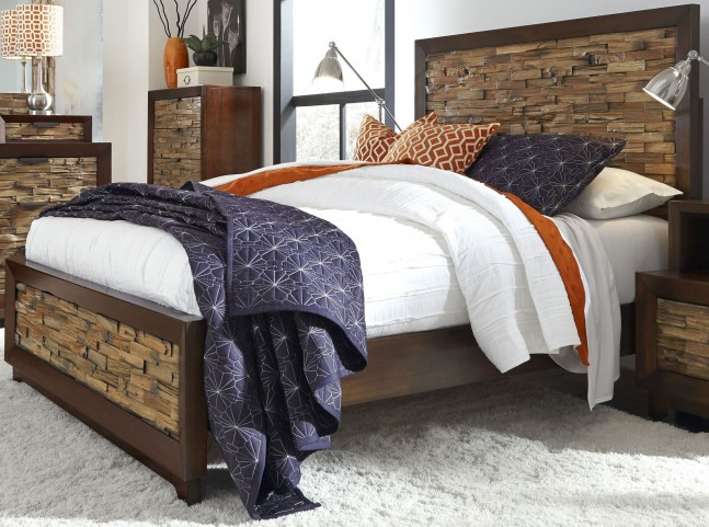 Bali Dark Mahogany Queen Bed