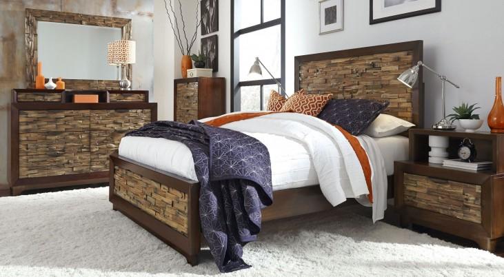 Bali Dark Mahogany Bedroom Set