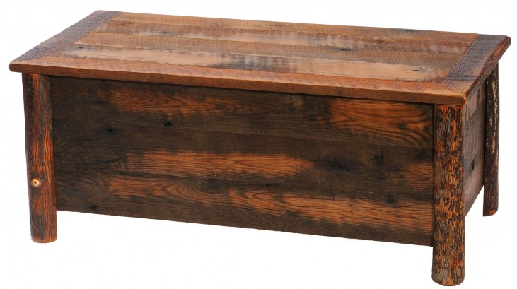 Barnwood Blanket Chest With Hickory Legs