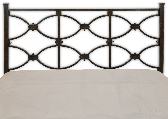 Marlo Burnished Black Queen Headboard
