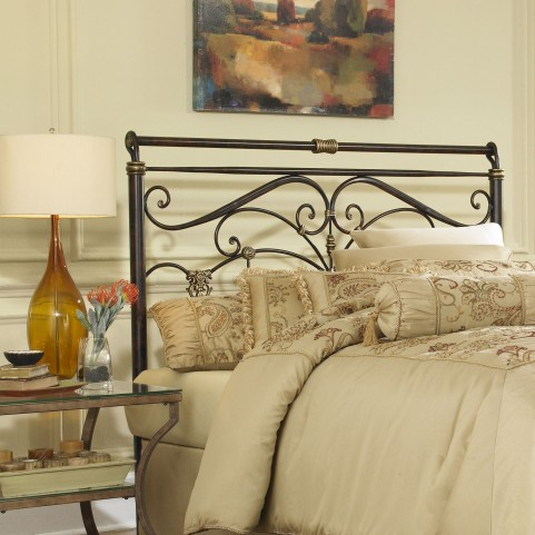 Lucinda Marbled Russet Queen Headboard