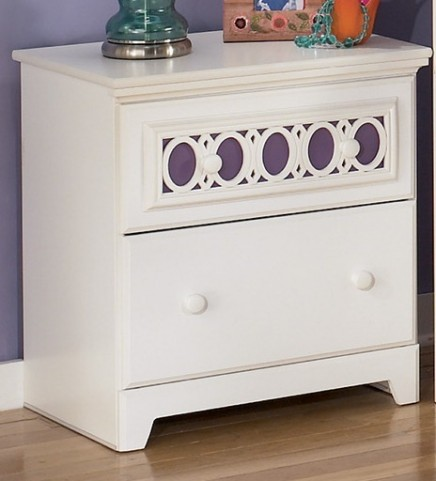 Zayley Two Drawer Nightstand