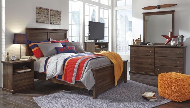 Burminson Brown Panel Bedroom Set