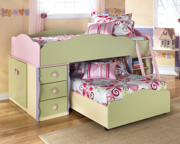 Doll House Youth Twin over Twin Loft Bed Set