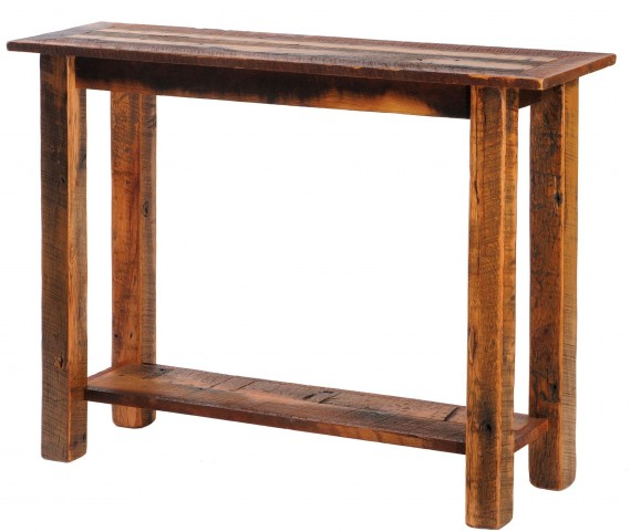 Barnwood Open Sofa Table with Shelf