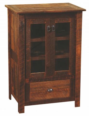 Barnwood Media Cabinet With Barnwood Legs