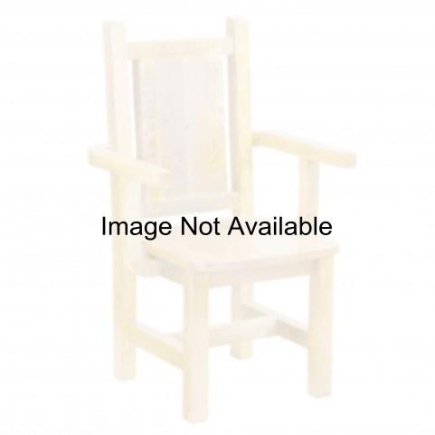 Barnwood Contoured Wood Seat Artisan Antique Oak Dining Arm Chair