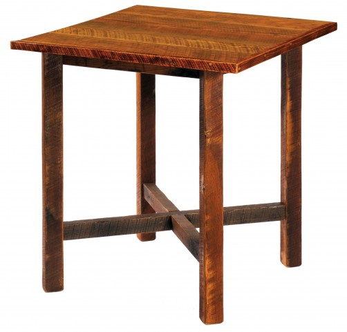"Barnwood 40"" Artisan Top Square Pub Table"