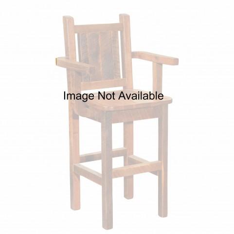 """Barnwood Artisan Antique Oak 24"""" Backrest Counter Stool"""