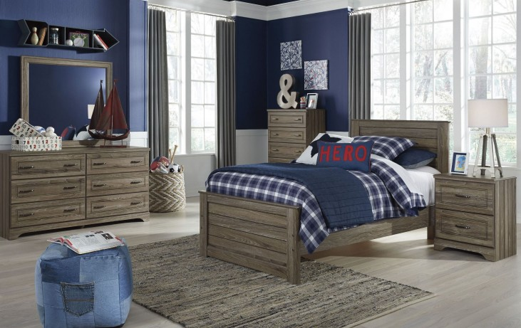 Javarin Grayish Brown Youth Panel Bedroom Set