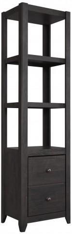 Javarin Black Bookcase