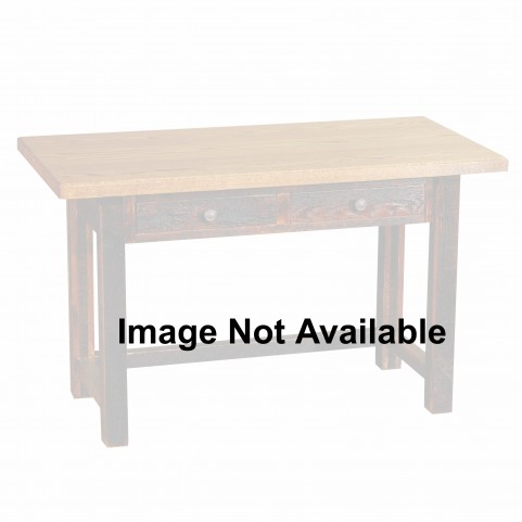 Barnwood 2 Drawers Artisan Top Writing Desk With Barnwood Legs