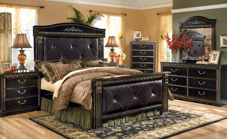 coal creek mansion bedroom set from ashley b175 coleman furniture