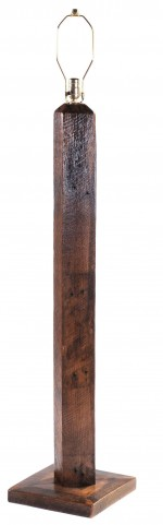 Barnwood Floor Lamp Without Shade