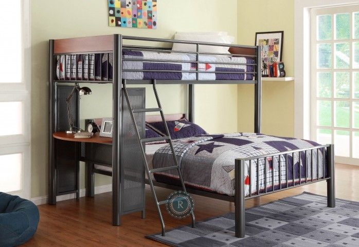Division Twin over Full Metal Loft Bed