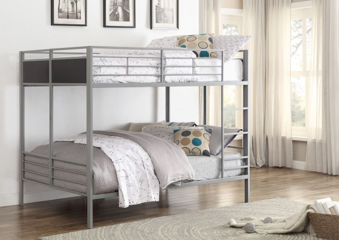 Dex Grey Folding Full over Full Bunk Bed