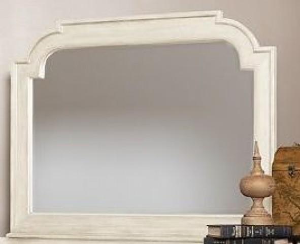 Woodhaven Antique White Mirror