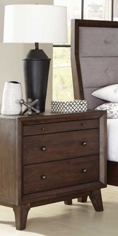Bingham Brown Oak Nightstand