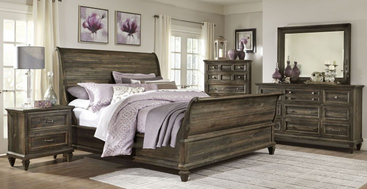 Calistoga Sleigh Bedroom Set