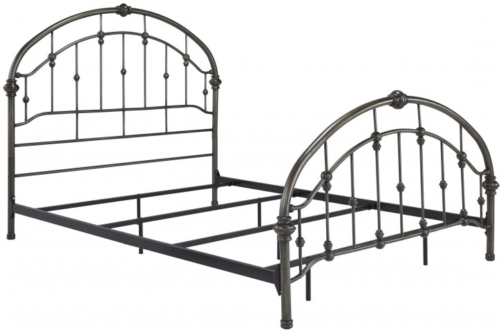 Queen Bronze Metal Bed