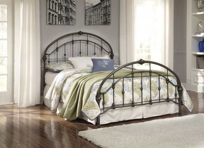 King Bronze Metal Bed