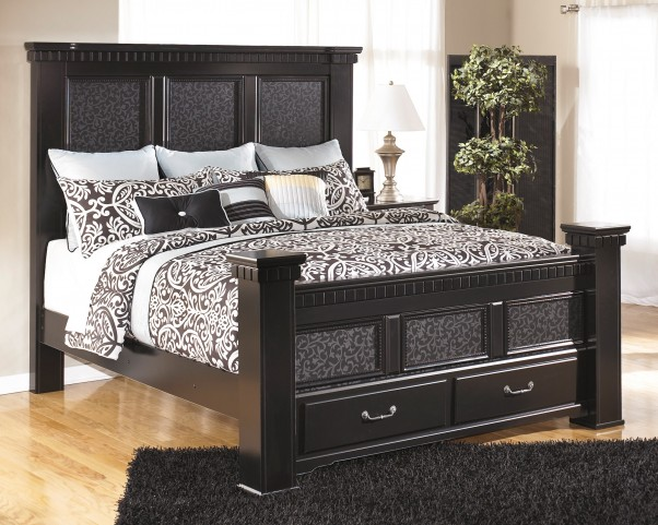 Cavallino King Storage Mansion Bed
