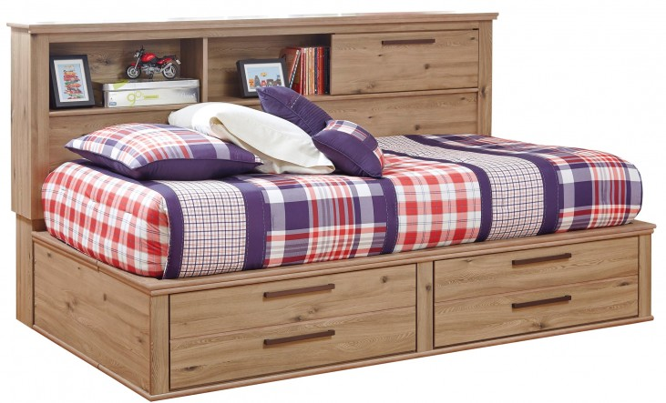 Dexifield Full Bookcase Storage Bed