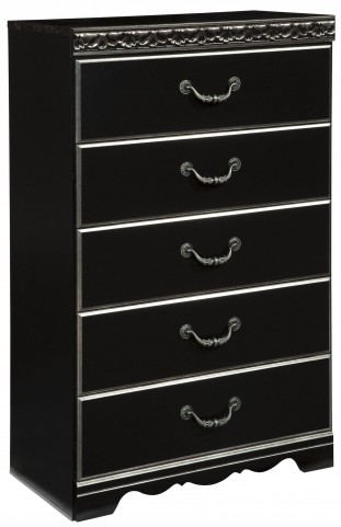 Navoni Black Five Drawer Chest