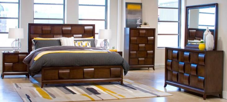 Ribbons Coffee Island Bedroom Set