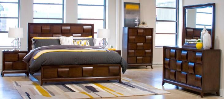 Ribbons Coffee Island Storage Bedroom Set