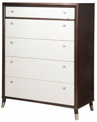 Seventh Avenue Cream and Sable Wood Drawer Chest
