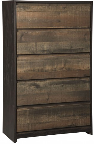 Windlore Dark Brown 5 Drawer Chest